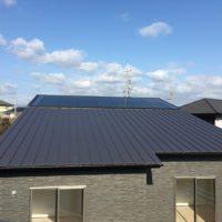 ローコスト住宅山口宇部の平屋、太陽光発電を載せた防府の外観