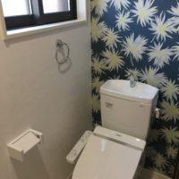 ローコスト住宅トイレの壁紙、山口防府宇部